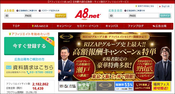 a8.netでお金を稼ぐ